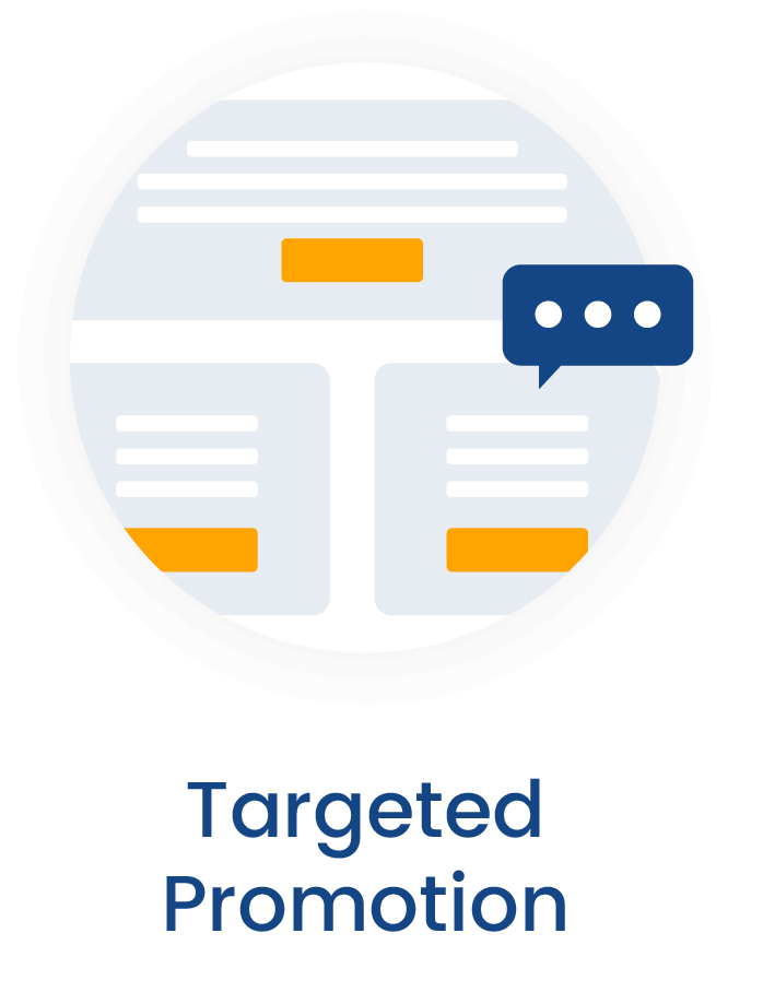 Targeted promotion for lead generation for life sciences and biotech marketing