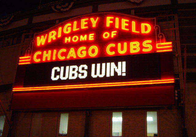 Wrigley Field sign Cubs Win 2003-10-03